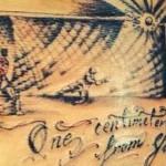 Mauricio Pinilla laat tattoo zetten van wk wedstrijd